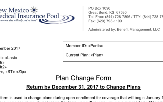 Plan Change Form